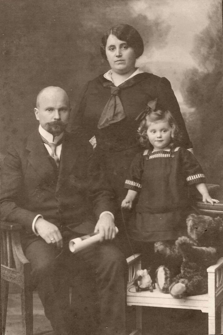 Uncle Wilhelm and Aunt Frida in the Black Forest with their baby daughter