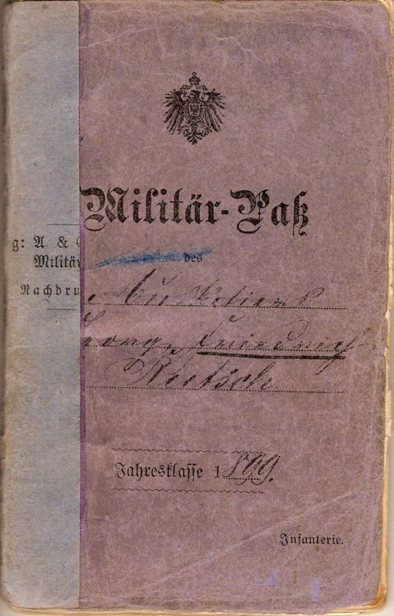 Father's military passport
