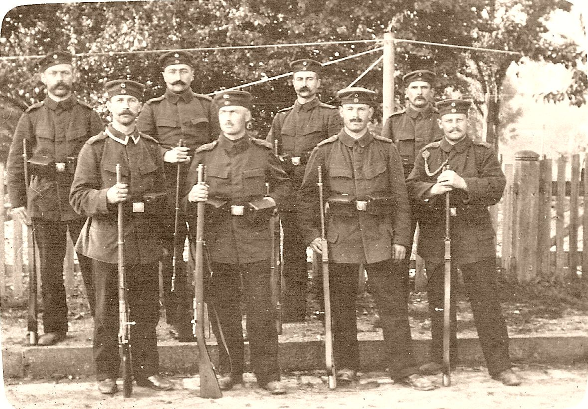 Father (back row 2nd from left) in the Ludwigsburg training camp