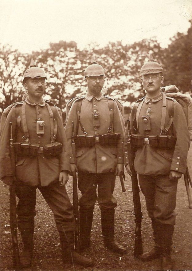 the Black Forest uncle (middle) as a soldier