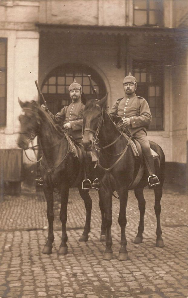 the Hohenlohe uncle (right) as a soldier