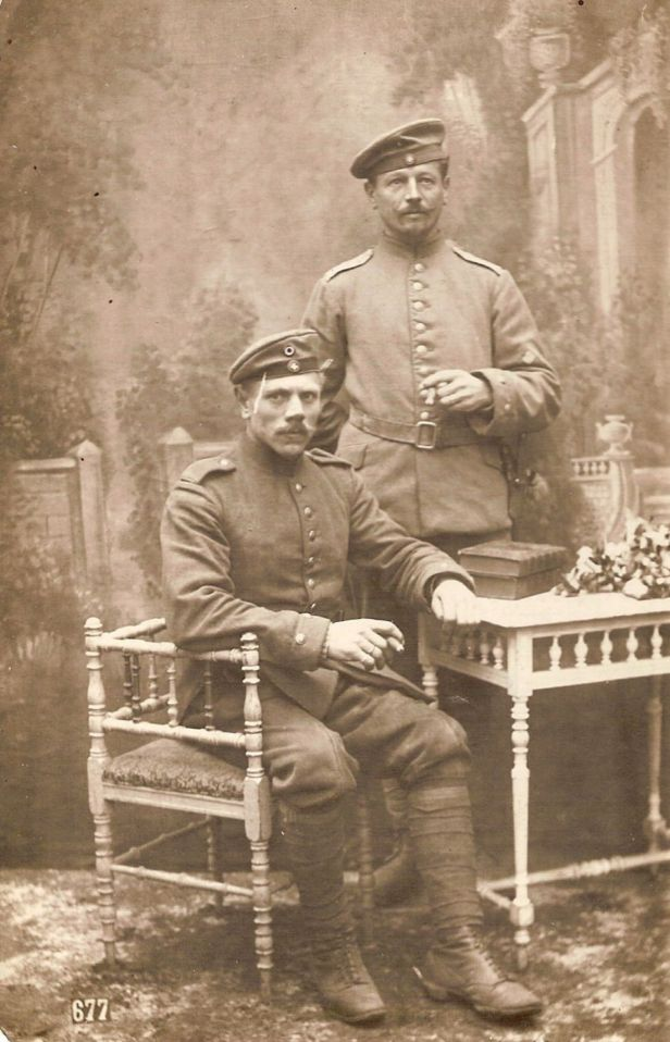 the Hohenlohe uncle (standing) in 1918