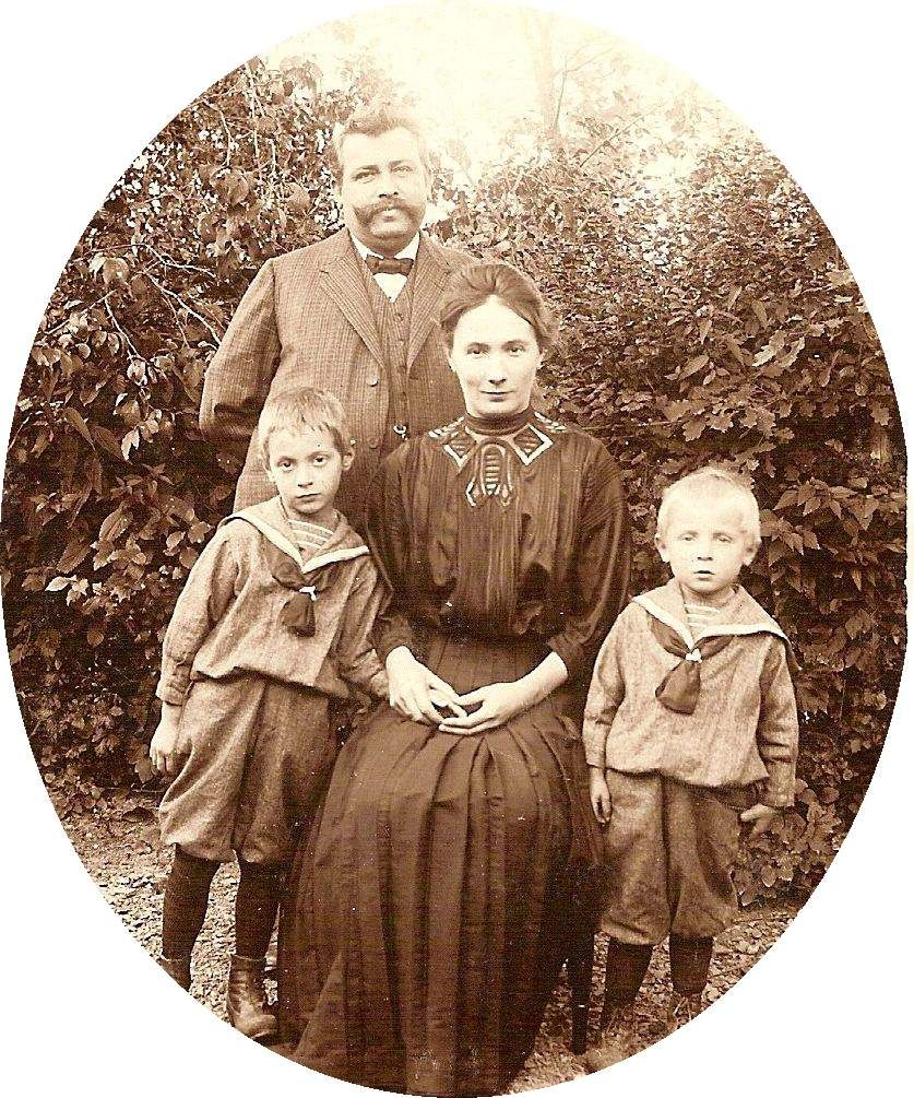Herr König (who instigated Mother to buy the seagull-hat) with wife and sons